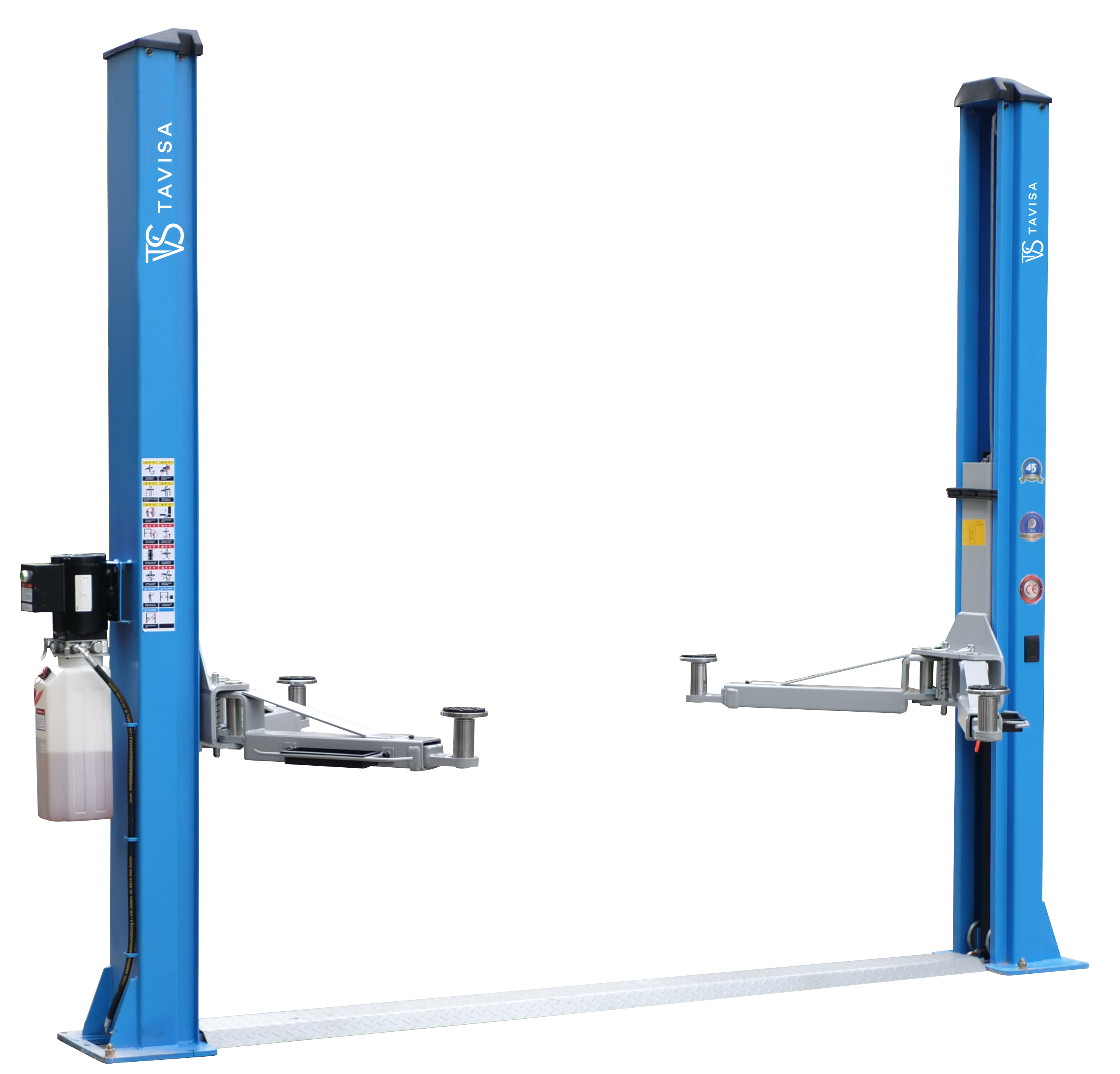 L-2-45D Electro-hydraulic two post lift with mechanical lock release