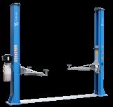 L-2-45D Elektro-hidraulinis dviejų kolonų keltuvas su mechaniniais fiksatoriais su visomis keturiomis 3-jų pakopų letenomis ir dvigubos S kolonos konstrukcija (8-ių lenkimų) trifaziai arba vienfaziai