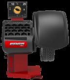 Automatinės ratų balansavimo staklės ER65SE su monitoriumi, pneumatiniu rato prispaudimu ir automatiniu sonaru skirtu rato pločiui nustatyti